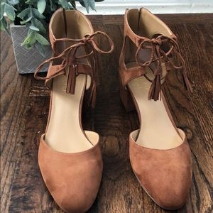 Rust suede Franco Sarto shoes size 10